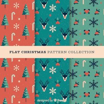 クリスマスの要素フラットパターン