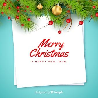 クリスマスの付箋メモの背景