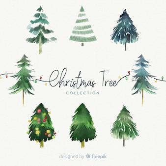 水彩クリスマスツリーコレクション