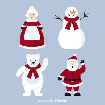 様々なクリスマスキャラクターのコレクション