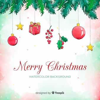 装飾のクリスマスの背景