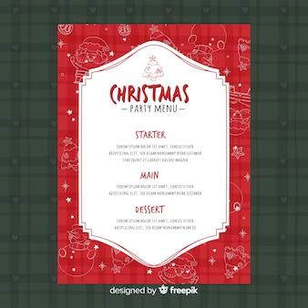 Рождественский шаблон меню