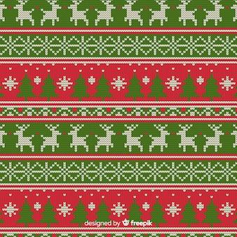 クリスマス編みパターン