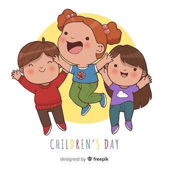 子供の日のジャンプ子供の背景