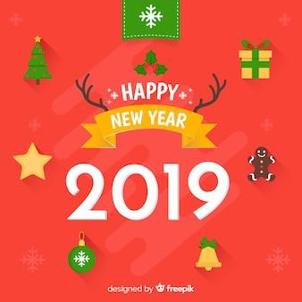 Новый год крошечных элементов фона
