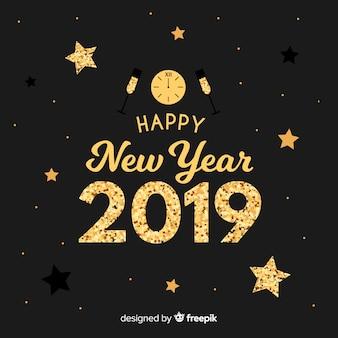 Новый год фона элементов блеска