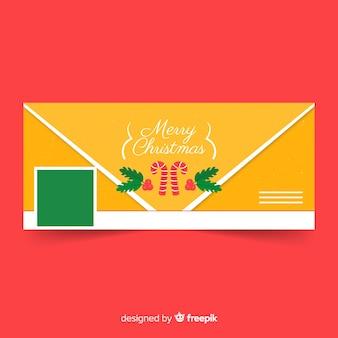 Рождественский фейсбук покрывает плоский конверт