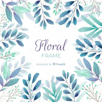 素敵な水彩の花のフレーム
