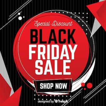 黒と赤の抽象的な黒金曜日の販売の背景