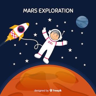 火星の宇宙飛行士
