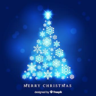 クリスマスツリー、雪片