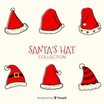 手描きのサンタの帽子コレクション