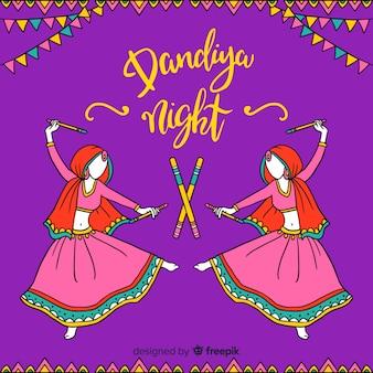 ダンディヤの夜の背景