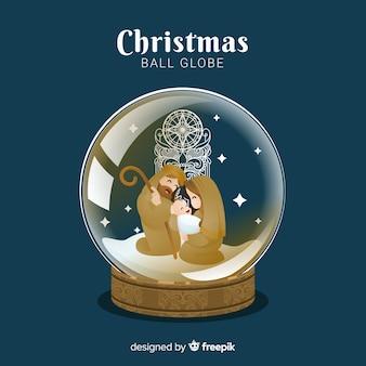 クリスマススノーボールグローブ