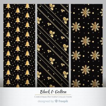 Золотые элементы рождественский узор