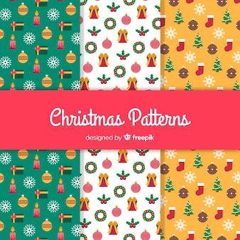 小さな要素のクリスマスパターン
