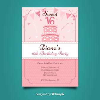 Сладкое шестнадцать приглашений на день рождения