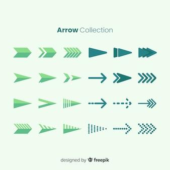 緑の矢印のコレクション