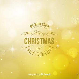 クリスマスの黄金のライトの背景