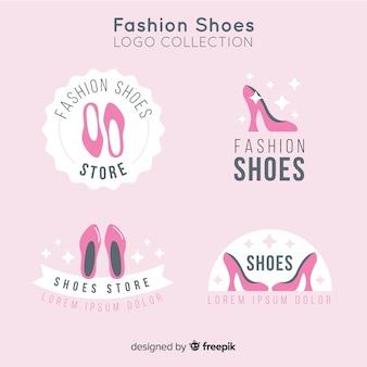 ファッションシューズのロゴのコレクション