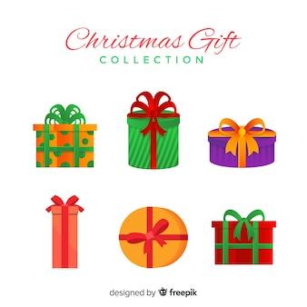 フラットクリスマスプレゼントのコレクション