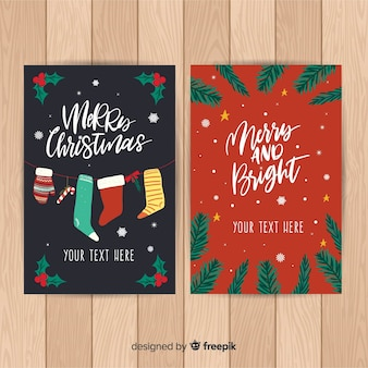 手描きのクリスマスカードのテンプレート
