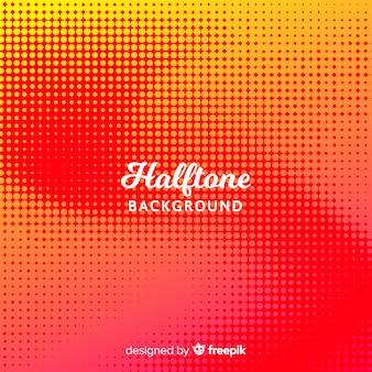 抽象的な赤のハーフトーンの背景