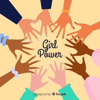 Фон девушки власти