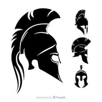 Силуэт коллекции спартанских шлемов