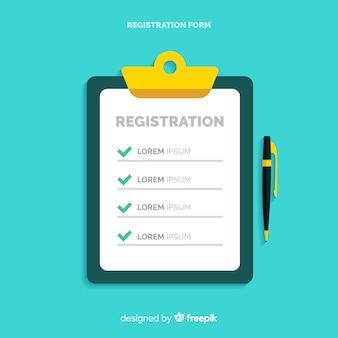 フラットデザインの登録フォームテンプレート