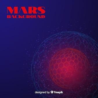 抽象的なデザインの現代火星の背景