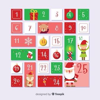 クリスマスアドベントカレンダーデザイン