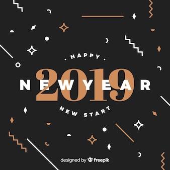 幾何学的な形の新年の背景