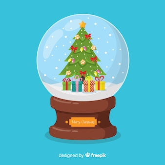 手描きのクリスマスツリークリスマススノーボール