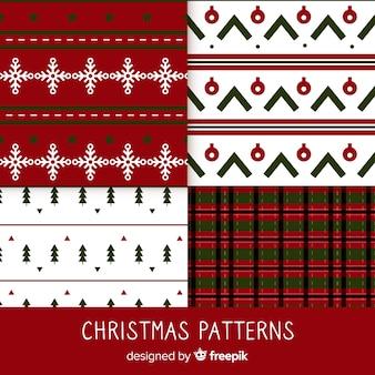 幾何学的なデザインとカラフルなクリスマスパターンのコレクション