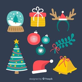 Коллекция рождественских элементов