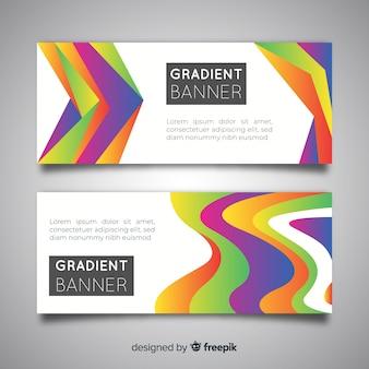グラデーションデザインによる抽象的なバナー