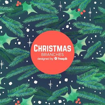 クリスマスツリーブランチの背景