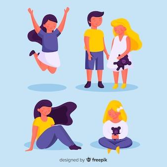 シンプルな子供の子供たちのデイパック