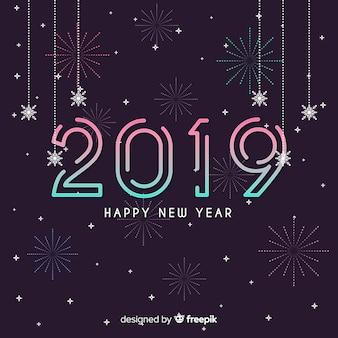 Линейный фон нового года