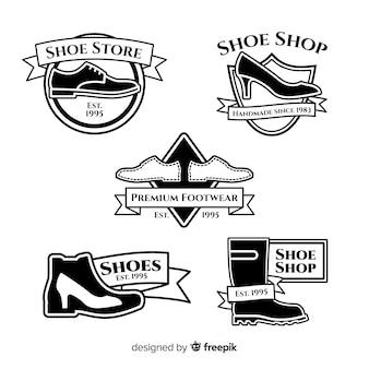 Коллекция шаблонов логотипов современной обуви