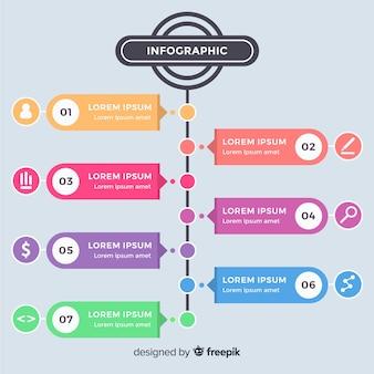 Современный инфографический шаблон с ярким стилем