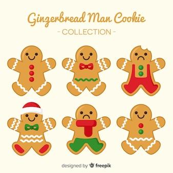 装飾されたジンジャーブレッドマンクッキークリスマスパック