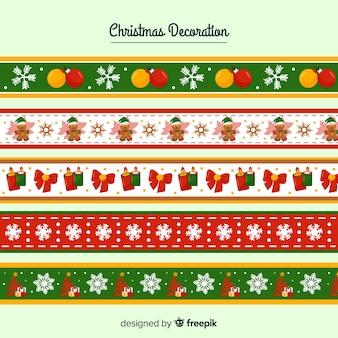 Плоская рождественская рамка