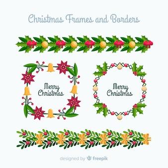 Рождественские рамки и границы