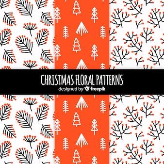 クリスマスの花のパターンのコレクション