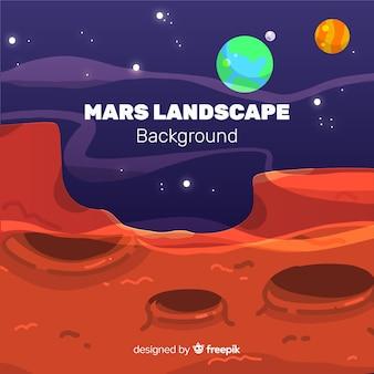 火星の風景の背景