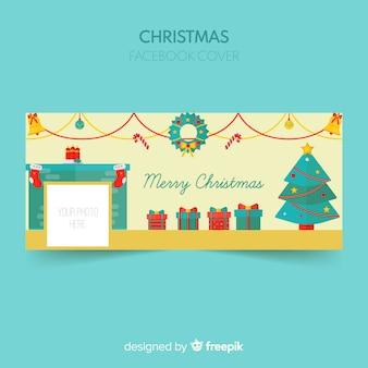 ルームクリスマスのフェイスブックカバー