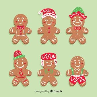 帽子ジンジャーブレッドマンクッキークリスマスコレクション