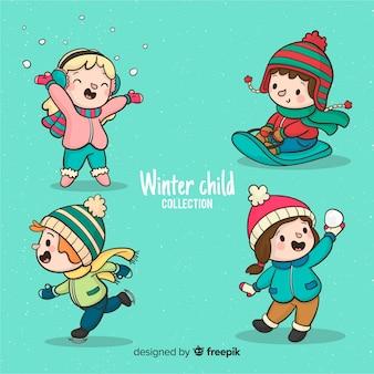 Воспроизведение зимней коллекции детей